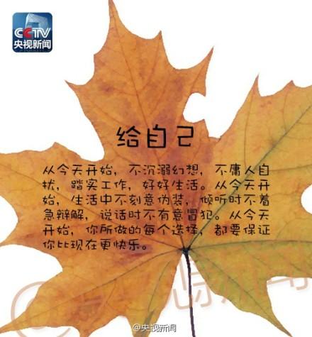 【立秋带来的9封信】今日,立秋,捡起这9片叶子,愿每一个,都如阳光照亮你。